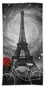 Romance At The Eiffel Tower Bath Towel