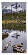 Round Lake Reflection Bath Towel