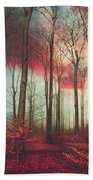 Ruby Red Evening Hand Towel
