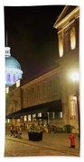 Rue Saint Paul In Old Montreal At Night Hand Towel