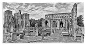 Ruins Of A Cathedral, Elgin Cathedral Hand Towel