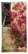 Rustic Life - Flowers Bath Towel