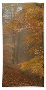 Rusty Autumn In Misty Woods 1 Bath Towel by Jenny Rainbow