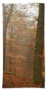 Rusty Autumn In Misty Woods 2 Bath Towel by Jenny Rainbow