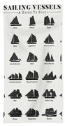 Sailing Vessel Types And Rigs Hand Towel