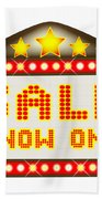 Sale Theatre Marquee Hand Towel
