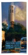 Salesforce Tower Coit Tower Transamerica Pyramid Bath Towel