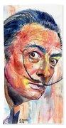 Salvador Dali Portrait Bath Towel