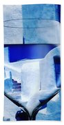 Santorini Greece Evening  Bath Towel by Colette V Hera Guggenheim