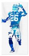 Saquon Barkley New York Giants Water Color Pixel Art 10 Hand Towel