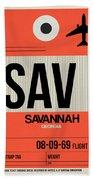 Sav Savannah Luggage Tag I Bath Towel