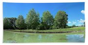 Scenic View Of Burgundy Canal Bath Towel