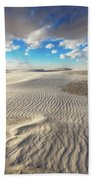 Sea Of Sand - Endless Dunes At White Sands New Mexico Bath Towel