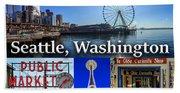 Seattle Washington Waterfront 01 Bath Towel