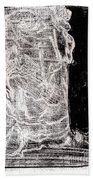 Self In Black Coloured Oil Transfer Drawing 11 Bath Towel