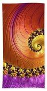 Shiny Purple And Gold Spiral Bath Towel