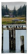 Small Village Along The Columbia River Bath Towel by Mae Wertz