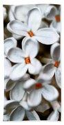 Small White Flowers Digital Bath Towel