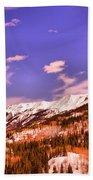 Snow Covered Mountains Bath Towel