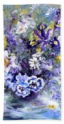 Spring In The Artist's Garden Hand Towel by Ryn Shell
