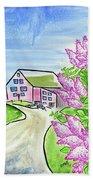 Spring Lilac Hand Towel