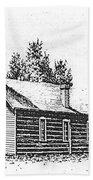 St. Mary's Mission, Stevensville, Montana Bath Towel