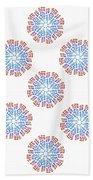 Starburst Pattern Bath Towel