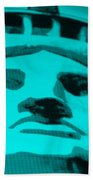Statue Of Liberty In Turquois Bath Towel
