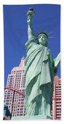 Statue Of Liberty Replica In Las Vegas Bath Towel