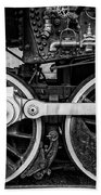 Steam Locomotive Detail Bath Towel