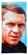 Steve Mcqueen, Portrait Bath Towel
