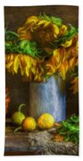 Still Life With Sunflowers Hand Towel