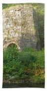 Stone Iron Furnace - Franconia New Hampshire Bath Towel