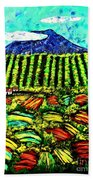 Sumatra Coffee Plantation Bath Towel
