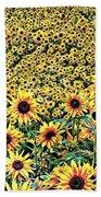 Sunflowers In Kansas Bath Towel