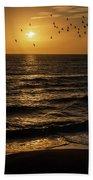 Sunrise Birds North Carolina Bath Towel