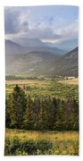 Sunset In The Rockies Bath Towel by James Woody