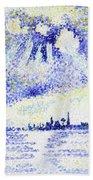 Sunset On The Lagoon, Venice - Digital Remastered Edition Hand Towel