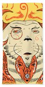 Surreal Cat Bath Towel by Sotuland Art