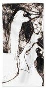 Swans After Mikhail Larionov Black Oil Painting 5 Bath Towel