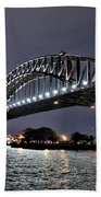 Sydney Harbor Bridge Night View Bath Towel