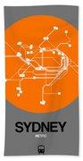 Sydney Orange Subway Map Hand Towel