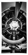 T-28b Vertical Close-up In Bw Bath Towel by Doug Camara