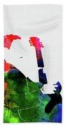 T-bone Walker Watercolor Bath Towel