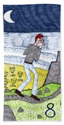 Tarot Of The Younger Self Eight Of Cups Hand Towel
