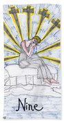Tarot Of The Younger Self Nine Of Swords Hand Towel
