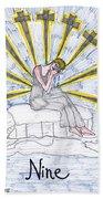 Tarot Of The Younger Self Nine Of Swords Bath Towel