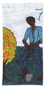 Tarot Of The Younger Self Seven Of Pentacles Hand Towel