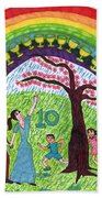 Tarot Of The Younger Self Ten Of Cups Hand Towel