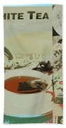 Tea Collage Poster Hand Towel